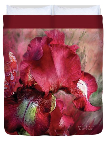 Goddess Of Passion Duvet Cover by Carol Cavalaris