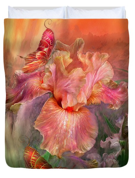 Goddess Of Spring Duvet Cover by Carol Cavalaris
