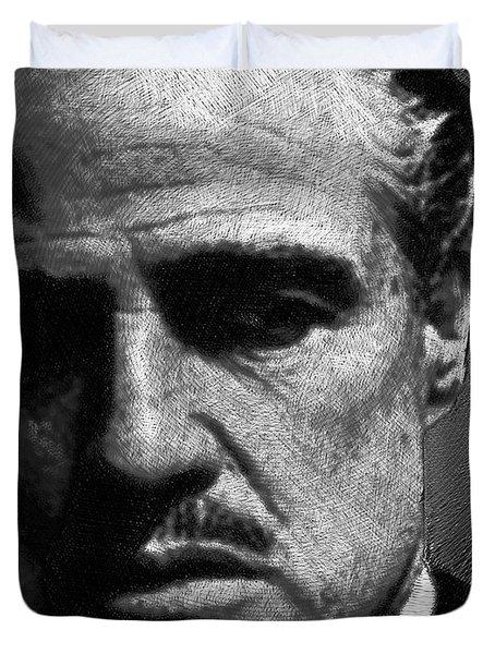 Godfather Marlon Brando Duvet Cover by Tony Rubino