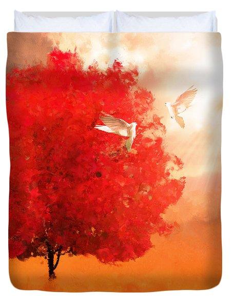God's Love Duvet Cover by Lourry Legarde