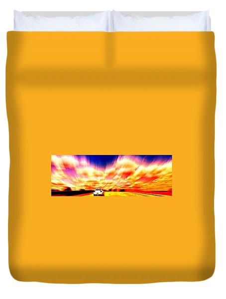 Going For A Ride Duvet Cover by Paulo Guimaraes