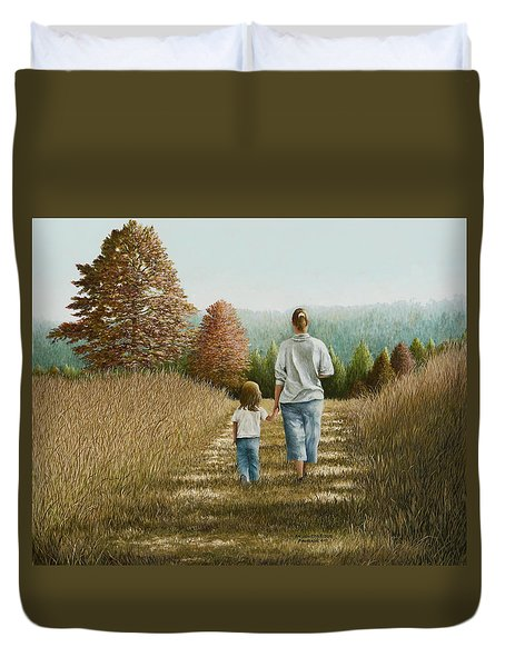Going Home Duvet Cover by Mary Ann King