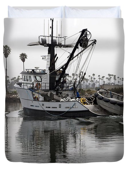 Going To Work Duvet Cover by Amanda Barcon