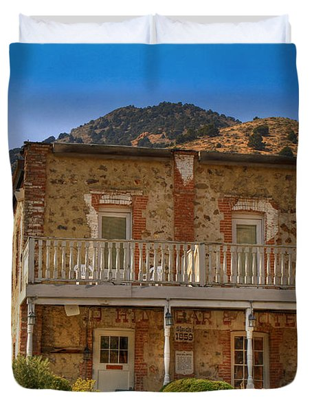 Gold Hill Hotel And Saloon Duvet Cover by Donna Kennedy