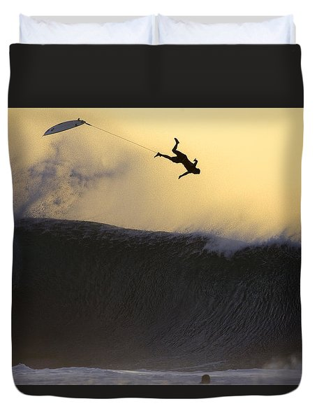 Gold Leap Duvet Cover by Sean Davey