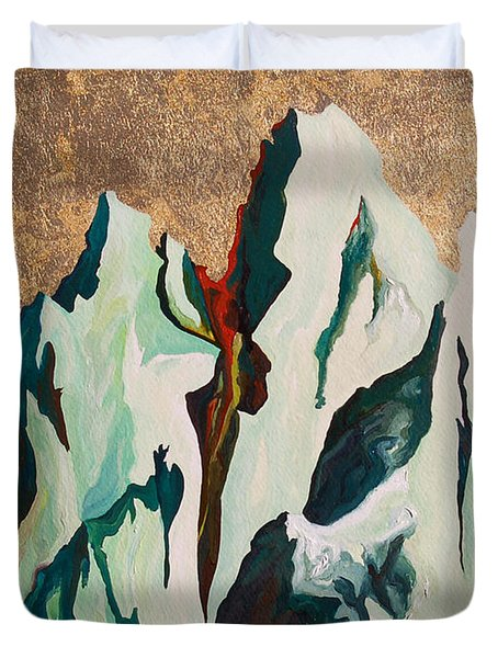 Gold Mountain Duvet Cover by Joseph Demaree