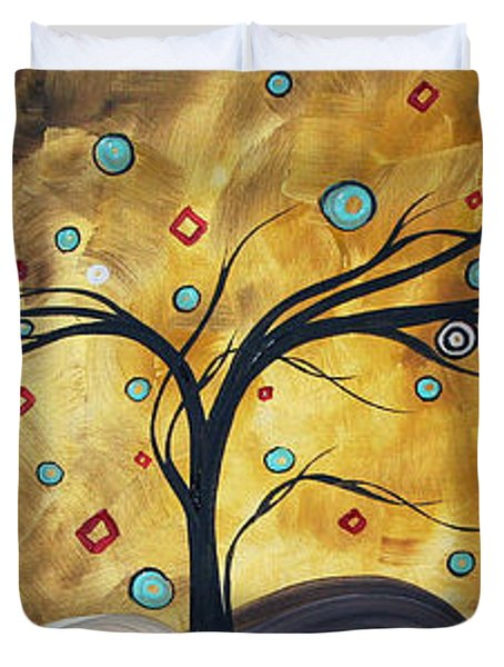Golden Admiration By Madart Duvet Cover by Megan Duncanson