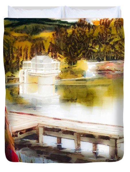 Golden Afternoon Duvet Cover by Kip DeVore