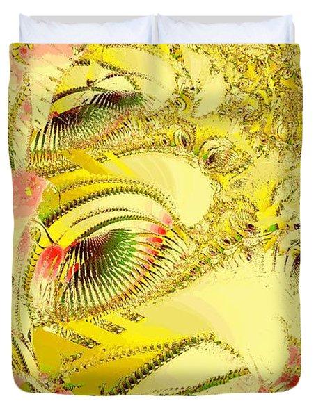Golden Duvet Cover by Anastasiya Malakhova