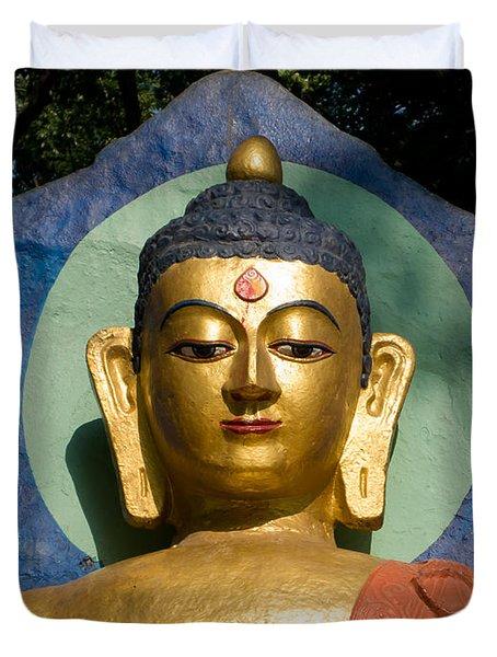 Golden Buddha Duvet Cover by Nila Newsom