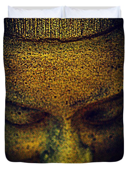 Golden Buddha Duvet Cover by Susanne Van Hulst