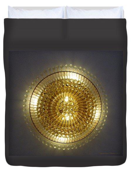 Golden Circle Duvet Cover by Leena Pekkalainen