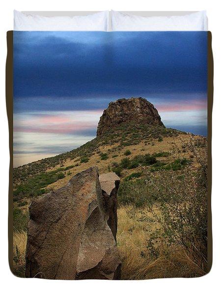 Golden Colorado Sunset  Duvet Cover by AR Annahita