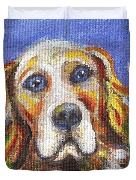 Golden Dog Duvet Cover by Linda Mears