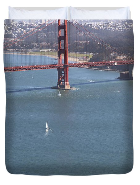 Golden Gate Bridge Duvet Cover by Jenna Szerlag