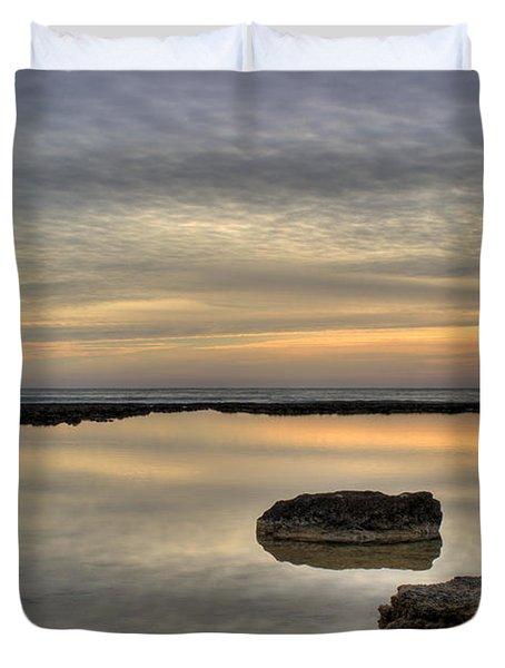 golden horizon Duvet Cover by Stylianos Kleanthous