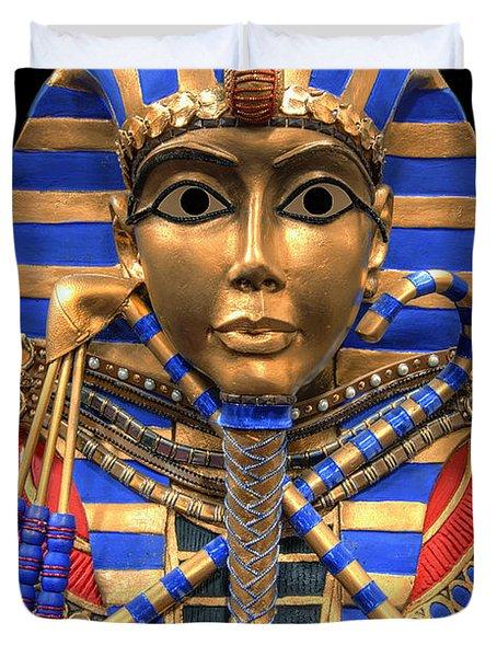 Golden Inner Sarcophagus Of A Pharaoh Duvet Cover by Daniel Hagerman