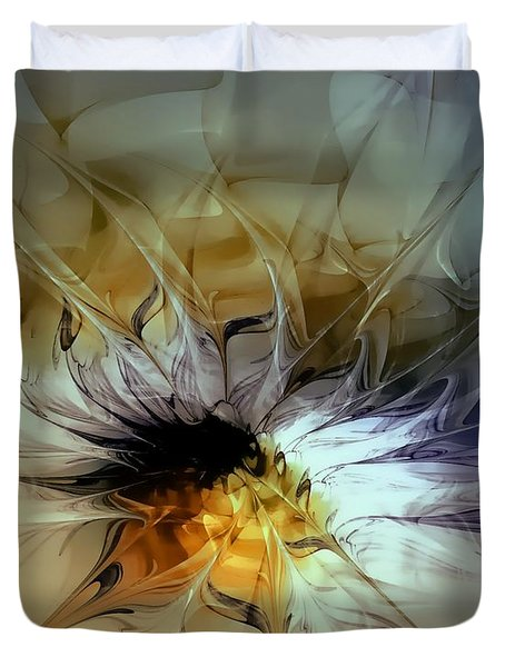 Golden Lily Duvet Cover by Amanda Moore
