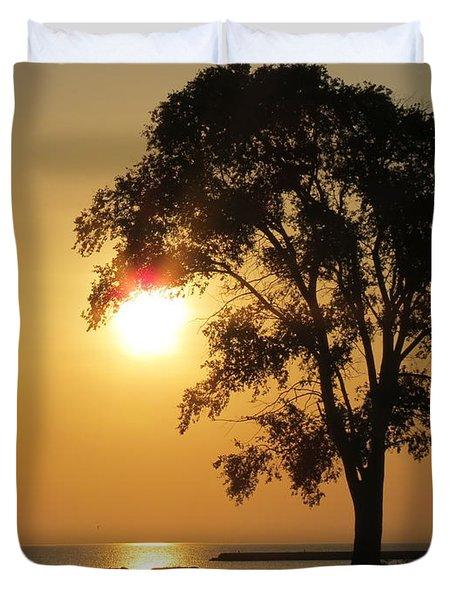 Golden Morning Duvet Cover by Kay Novy