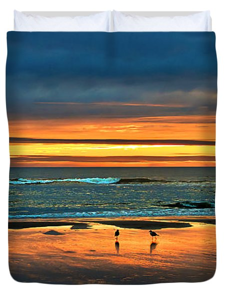 Golden Pacific Duvet Cover by Robert Bales