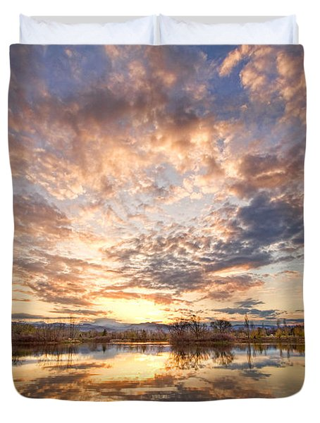 Golden Ponds Scenic Sunset Reflections 3 Duvet Cover by James BO  Insogna