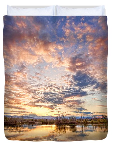 Golden Ponds Scenic Sunset Reflections 4 Duvet Cover by James BO  Insogna