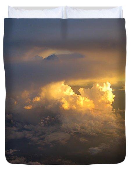Golden Rays Duvet Cover by Ausra Paulauskaite