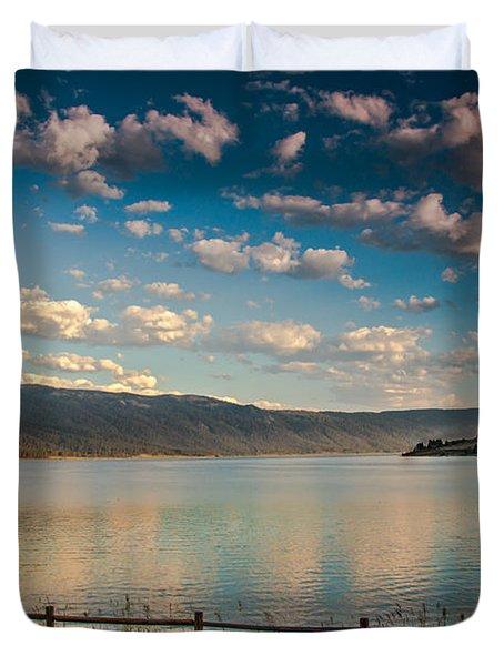 Golden Reflection On Lake Cascade Duvet Cover by Robert Bales