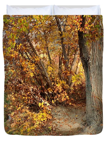 Golden Riverbank Duvet Cover by Carol Groenen