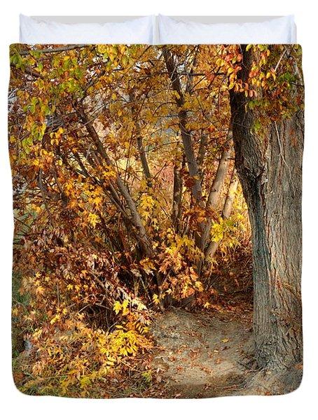 Golden Riverbank Duvet Cover by Carol Groenen
