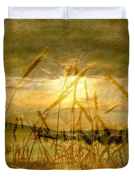 Golden Sunset Duvet Cover by Barbara St Jean