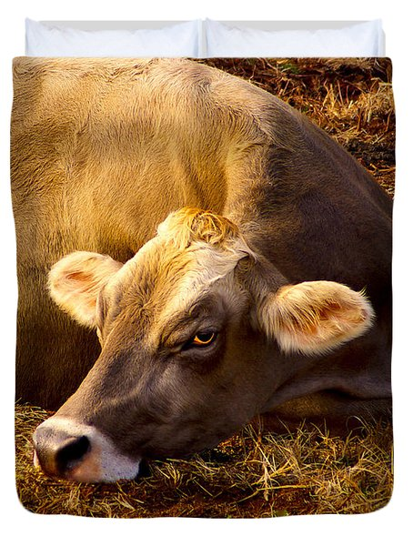 Goldeneye Duvet Cover by Robert Geary
