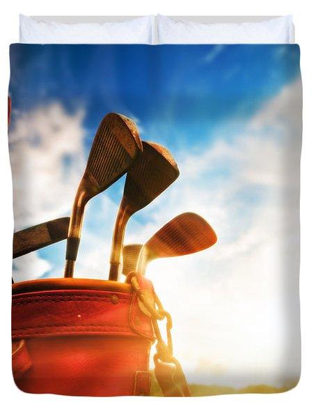 Golf Equipment  Duvet Cover by Michal Bednarek
