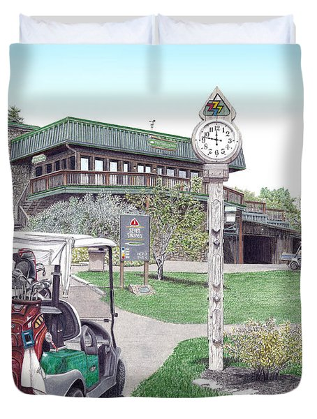 Golf Seven Springs Mountain Resort Duvet Cover by Albert Puskaric