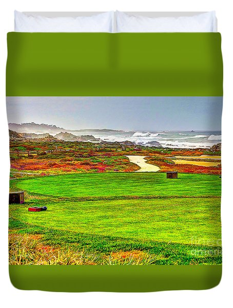 Golf Tee At Spyglass Hill Duvet Cover by Jim Carrell