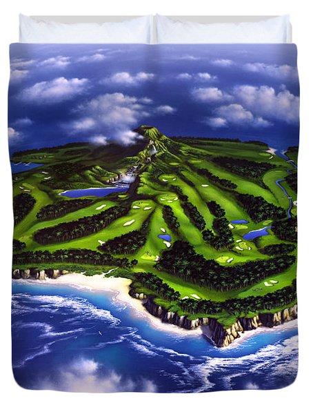 Golfer's Paradise Duvet Cover by Jerry LoFaro