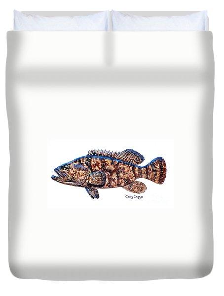 Goliath Grouper Duvet Cover by Carey Chen