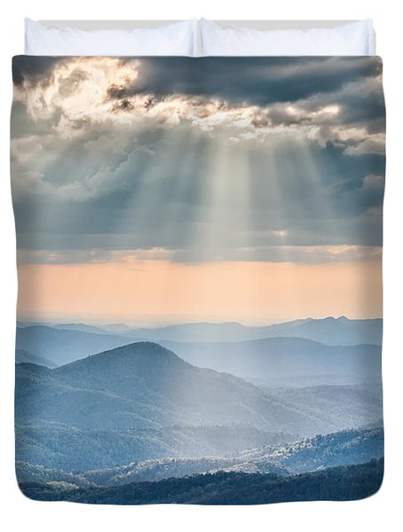 Good Afternoon From Max Patch Duvet Cover by Rob Travis