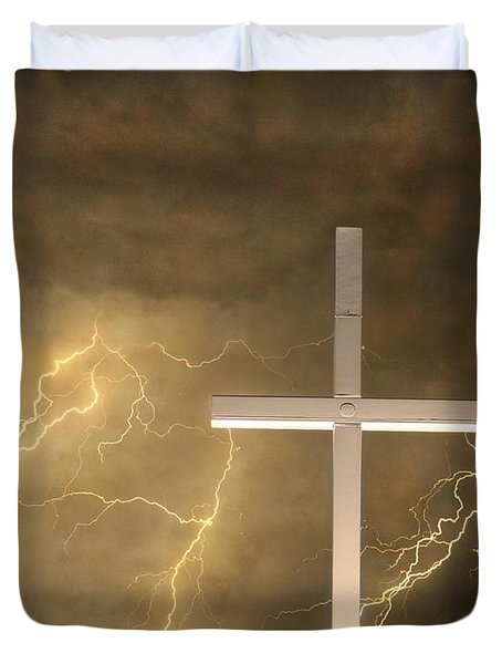 Good Friday In Sepia Texture Duvet Cover by James BO  Insogna