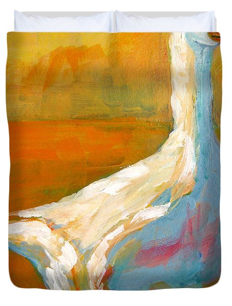 Goose A Farm Animal Duvet Cover by Patricia Awapara