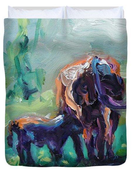 Got Milk Duvet Cover by Donna Tuten
