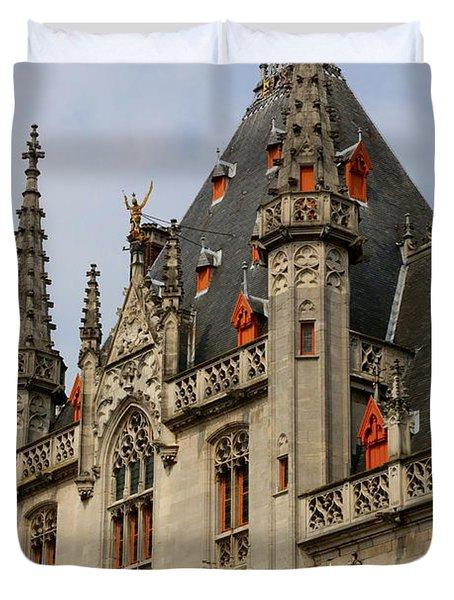 Gothic Bruges Duvet Cover by Carol Groenen