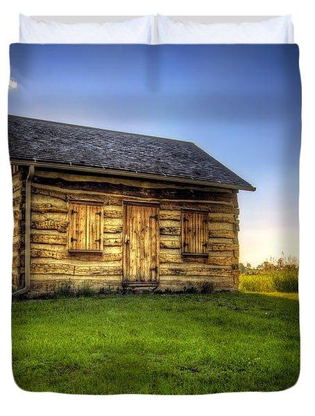 Gotten Log Cabin Duvet Cover by Scott Norris