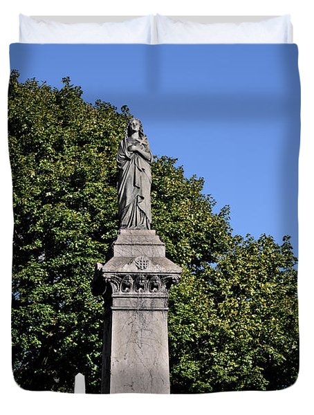 Graceland - Victorian Cemetery Chicago Duvet Cover by Christine Till