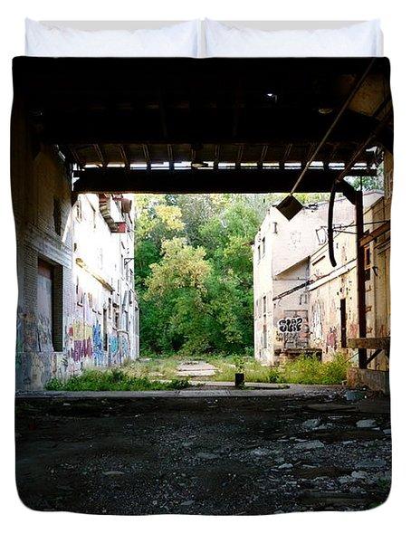 Graffiti Alley 1 Duvet Cover by Jacqueline Athmann