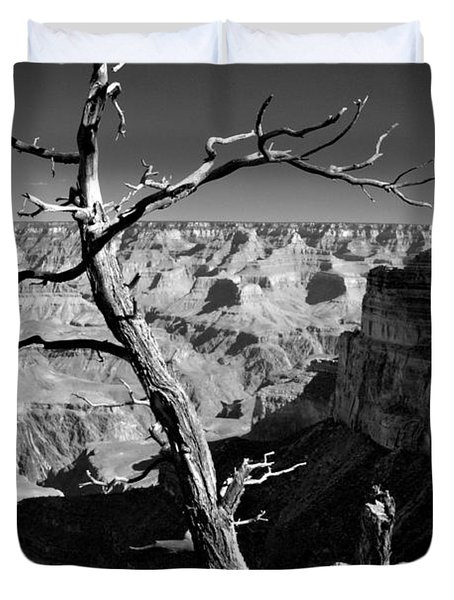 Grand Canyon Bw Duvet Cover by Patrick Witz