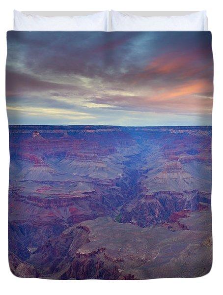 Grand Canyon Dusk Duvet Cover by Mike  Dawson