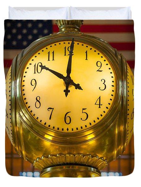 Grand Central Clock Duvet Cover by Inge Johnsson