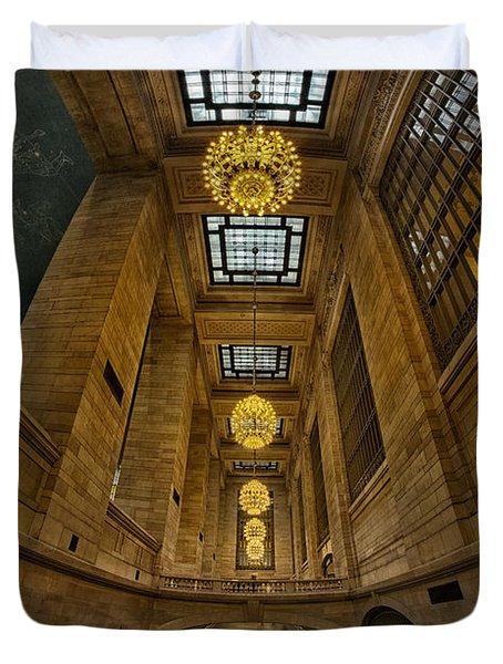 Grand Central Corridor Duvet Cover by Susan Candelario