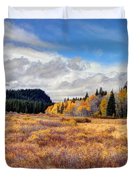 Grand Mesa Colors Duvet Cover by Bob Hislop